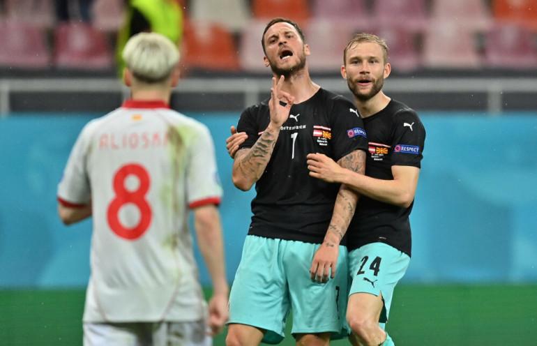 Arnatutović podczas meczu z Macedonią Północną