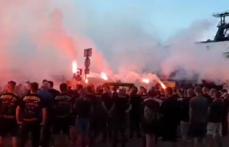 Kibice GKS Jastrzębie uczcili pamięć zmarłego tragicznie górnika