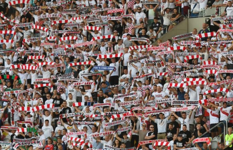 Kibice ŁKS-u Łódź z meczu przeciwko Legii Warszawa