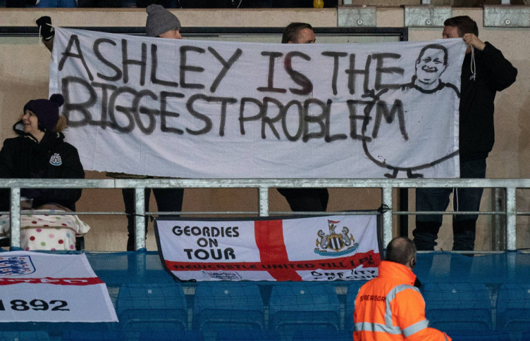 Kibice Newcastle Mike Ashley