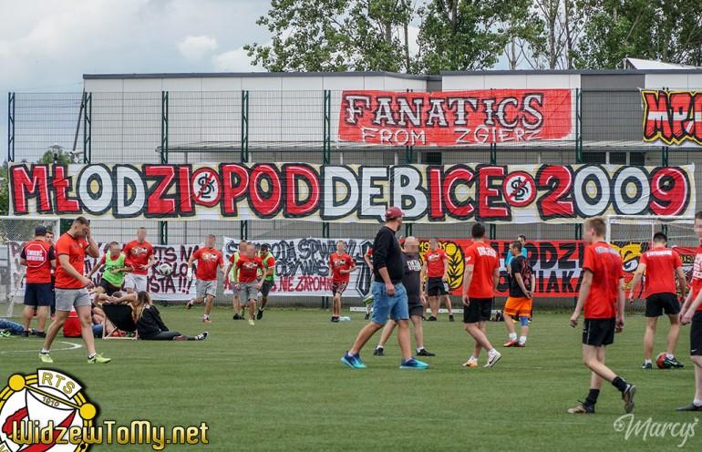 Kibice Widzewa świętowali 10-lecie grupy Młodzi Poddębice '09