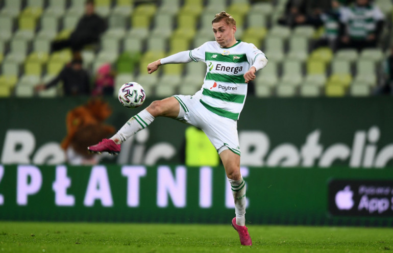 Kristers Tobers w barwach Lechii Gdańsk